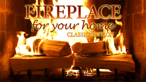 Fireplace 4K: Crackling Birchwood from Fireplace for Your